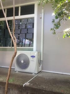 Air conditioning unit installed
