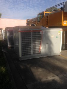 Getting to move the new air conditioning unit