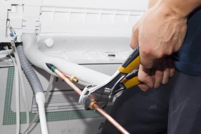 Installing split system air conditioning system